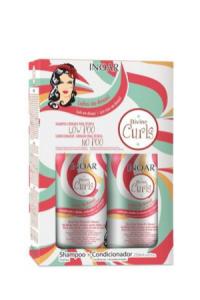 Kit Duo Shampoo e Condicionador Divine Curls Definição de Cachos, Inoar, 250ml